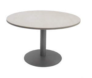TABLE RONDE ÉRABLE / GRIS - DIAMÈTRE 120 - H.72 cm