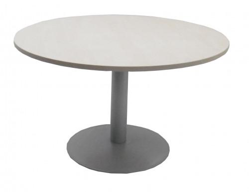 TABLE RONDE ÉRABLE / GRIS - DIAMÈTRE 120 H.72 cm