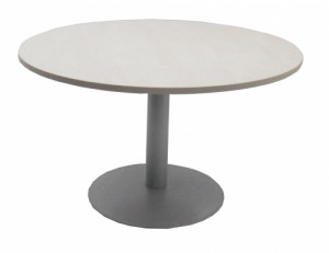 TABLE RONDE ÉRABLE / GRIS - DIAMÈTRE 120 H.72 cm