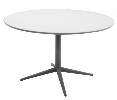 TABLE RONDE BLANCHE / GRIS ALU - DIAMÈTRE 120