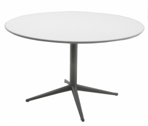 TABLE RONDE BLANCHE / GRIS ALU - DIAMÈTRE 120