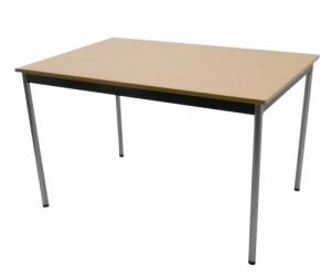 TABLE 4 PIEDS HÊTRE / GRIS ALU 120X80