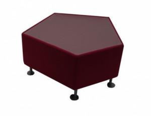 TABLE PENTAGONE - PLATEAU EN VERRE