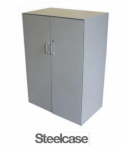 ARMOIRE MI-HAUTE PORTES BATTANTES STEELCASE 80X115