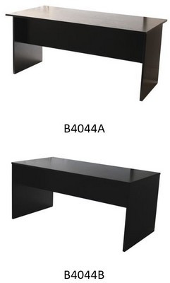 BUREAU MELAMINE FRENE NOIR 160x80