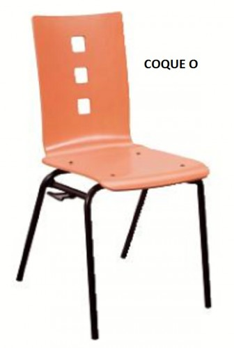 CHAISE COQUE BOIS