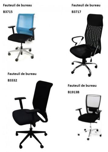 - FAUTEUIL DE BUREAU - RÉSILLE - SIMILI CUIR