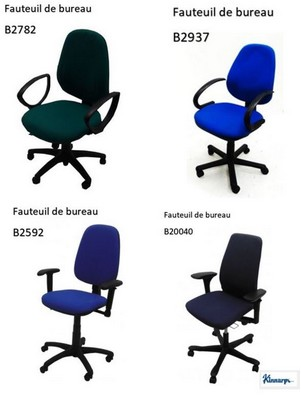 - FAUTEUIL DE BUREAU - TISSU DE COULEUR