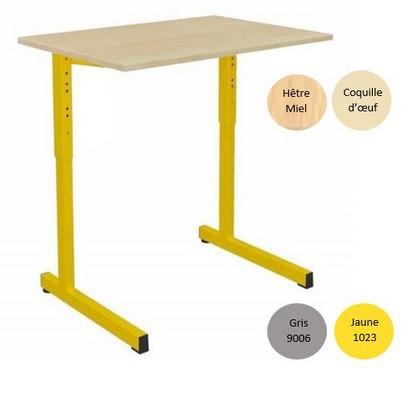 - TABLE SCOLAIRE GANGE 70x50 - RÉGLABLE
