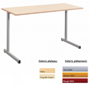 - TABLE SCOLAIRE GANGE 130X50 - H.76