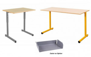 - TABLE SCOLAIRE GAMME GODA 70x50 / 130x50