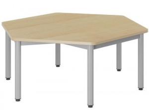 TABLE MATERNELLE HEXAGONALE LUTINS