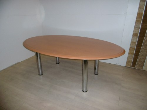 TABLE DE CONFERENCE OVALE 4 PIEDS