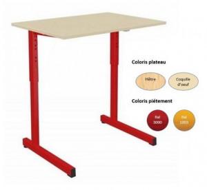 - TABLE SCOLAIRE GANGE 70x50 RÉGLABLE - H.59 A H.76