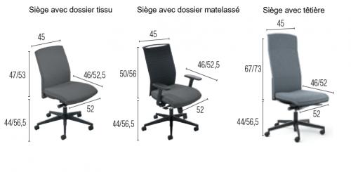 - SIÈGE DE BUREAU - GAMME ATTITUD