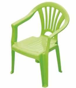 CHAISE PLASTIQUE H. 26 CM - LOT DE 8