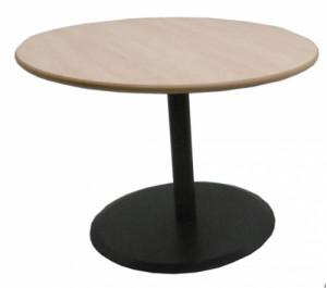 TABLE RONDE AULNE / GRIS DIAMÈTRE 100 - HAUTEUR 72 CM