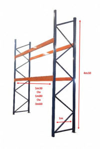 RACK BLEU / ORANGE - 3 DIMENSIONS DE LISSES