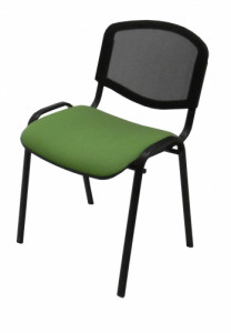 CHAISE ISO DOSSIER RÉSILLE / ASSISE TISSU VERT
