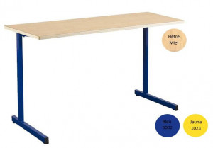 - TABLE SCOLAIRE GANGE 130X50 - FIXE