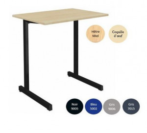 - TABLE SCOLAIRE GANGE 70x50 - FIXE
