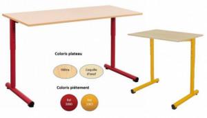 - TABLE SCOLAIRE TAGE RÉGLABLE - H.59 a H.76