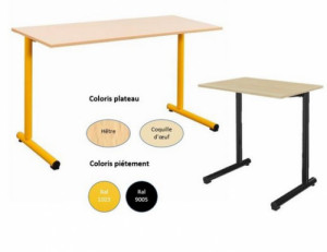 - TABLE SCOLAIRE TAGE FIXE - H.76