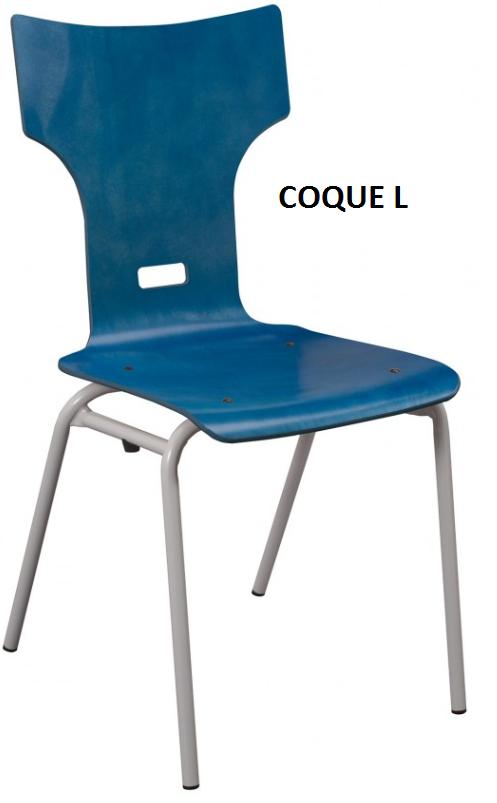 Chaise coque bois burocase for Chaise coque