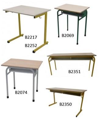 TABLE SCOLAIRE AVEC ÉQUIPEMENTS
