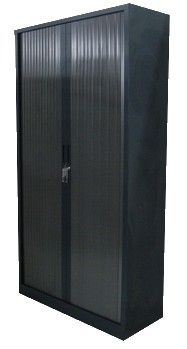 armoire a rideau gris anthracite 120x198 burocase. Black Bedroom Furniture Sets. Home Design Ideas