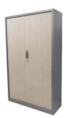 ARMOIRE HAUTE GRIS ARGENT RIDEAU PIN MAJENCIA 100X198