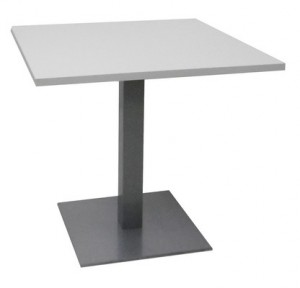 TABLE CARRÉE BLANCHE 80X80