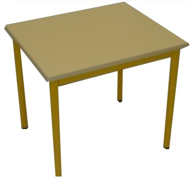 TABLE PETITE MOUSSE JAUNE TAILLE 2 60X50