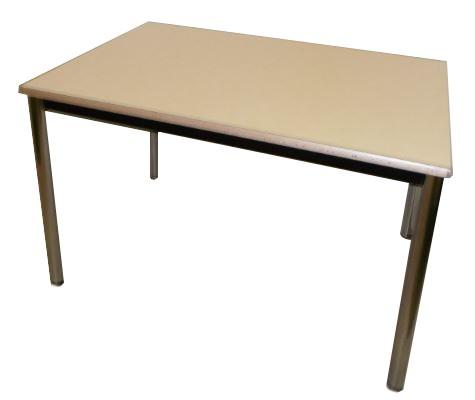 TABLE 4 PIEDS JAUNE PALE 120X80
