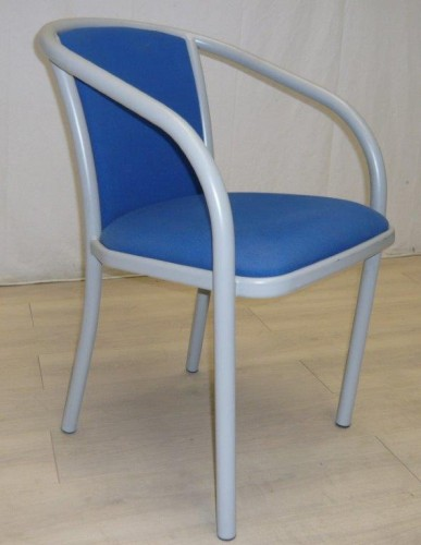 LOT DE 6 FAUTEUILS BRIDGE BLEU