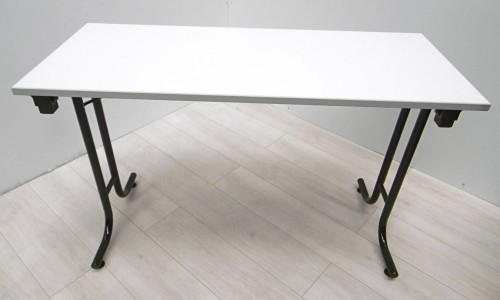 Table pliante grise 150x75 burocase for Table pliante exterieur professionnel