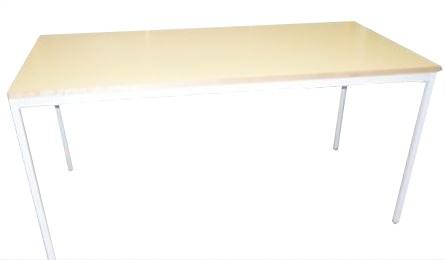 TABLE JAUNE 4 PIEDS 160X80
